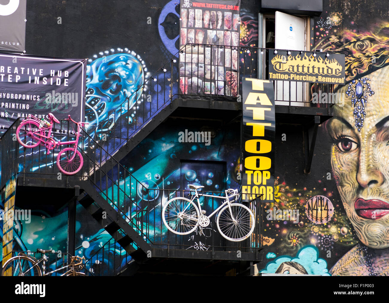 Northern Quarter Manchester - Stock Image