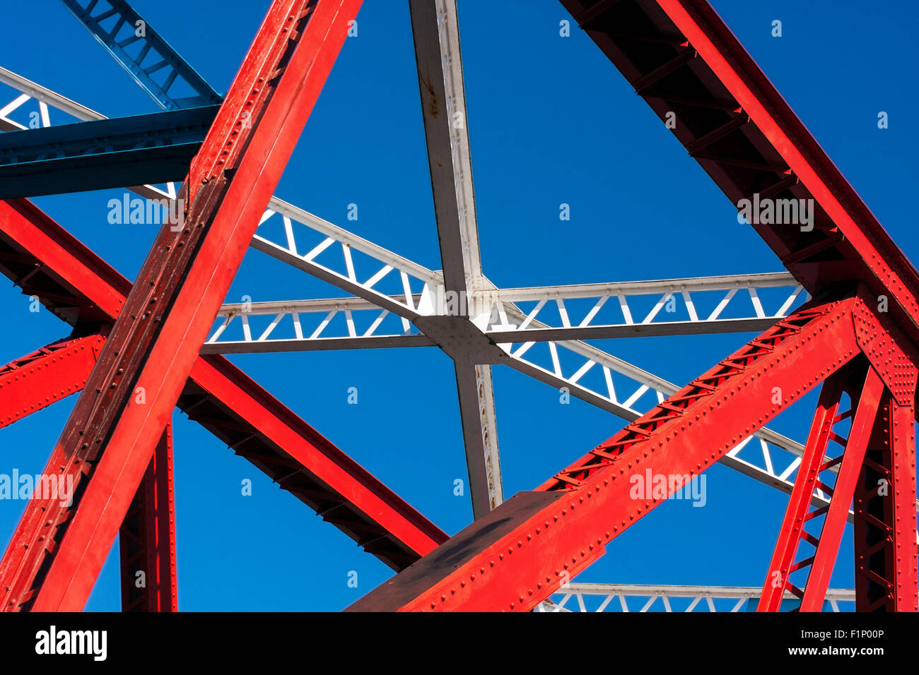 Abstract View of Detroit Bridge Salford Quays - Stock Image