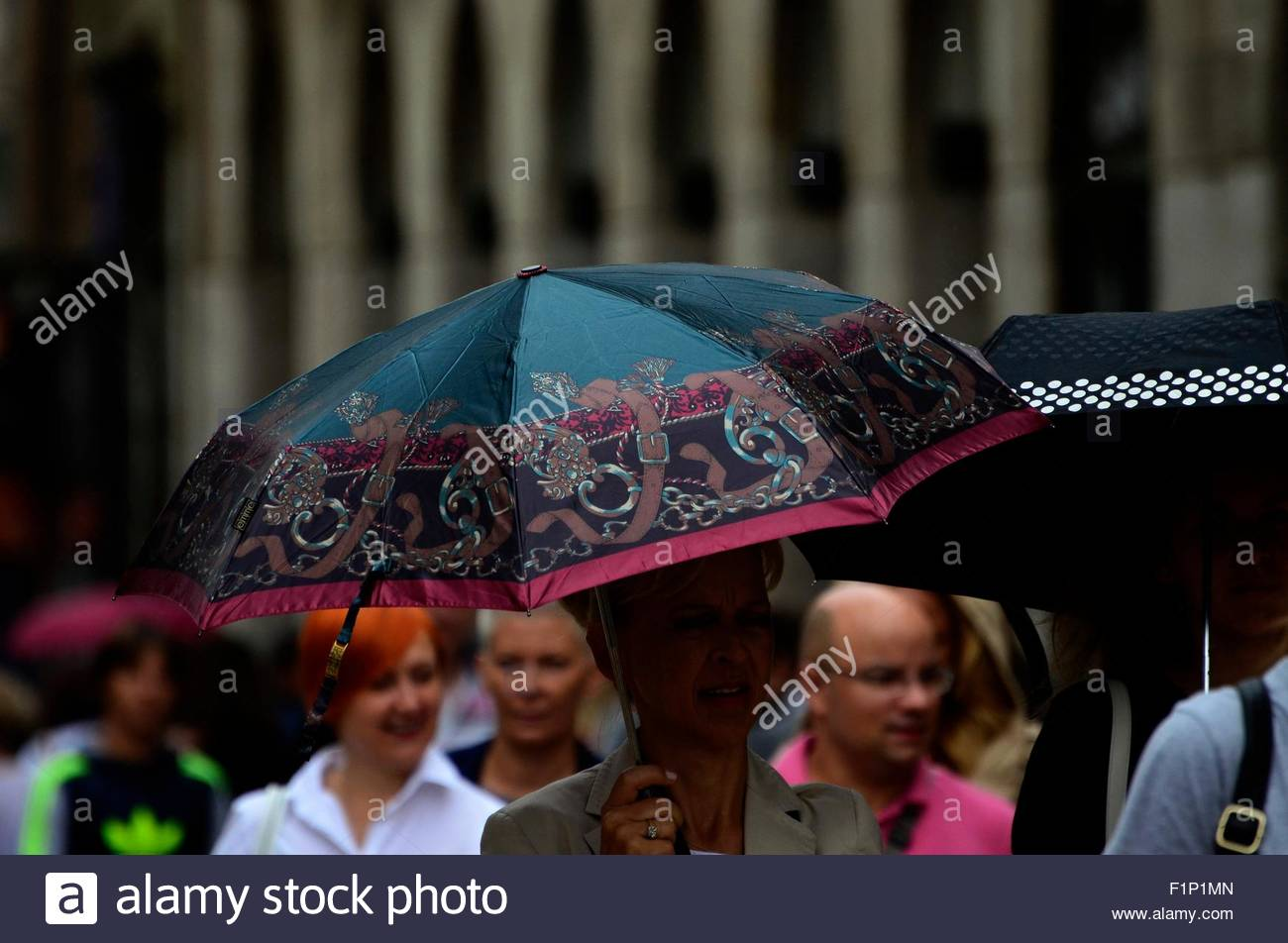 Zagreb,Croatia. 05 Sep 2015.Zagreb weather: Partially rainy day in the city. Credit:  Alen Gurovic/Alamy Live News - Stock Image