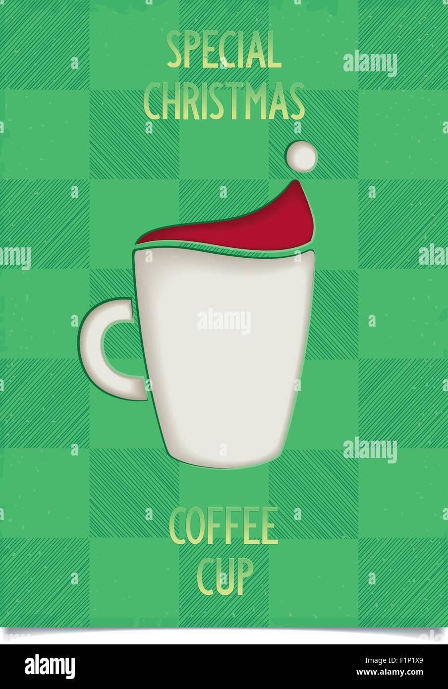 Christmas Restaurant Poster.Fun Vintage Christmas Poster Design For Restaurant And Cafe