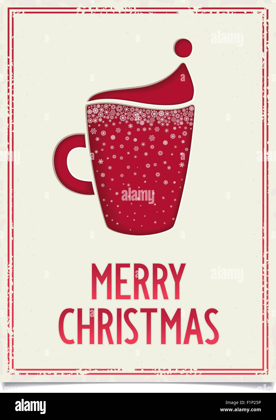 Christmas Restaurant Poster.Sweet Merry Christmas Poster Design For Restaurant And Cafe
