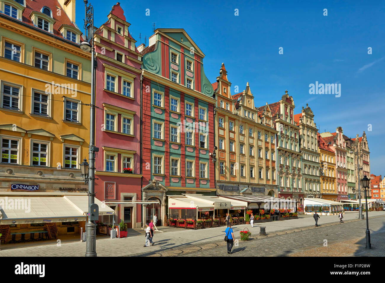 Market Square or Ryneck of Wroclaw, Lower Silesia, Poland, Europe - Stock Image
