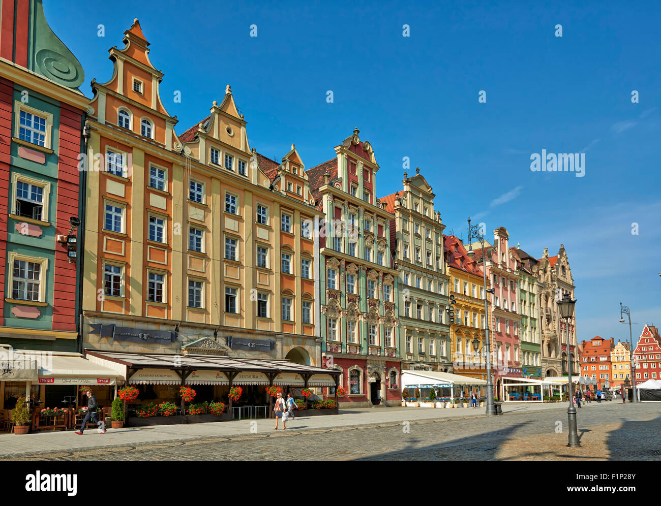 Market Square or Ryneck of Wroclaw, Lower Silesia, Poland, Europe Stock Photo