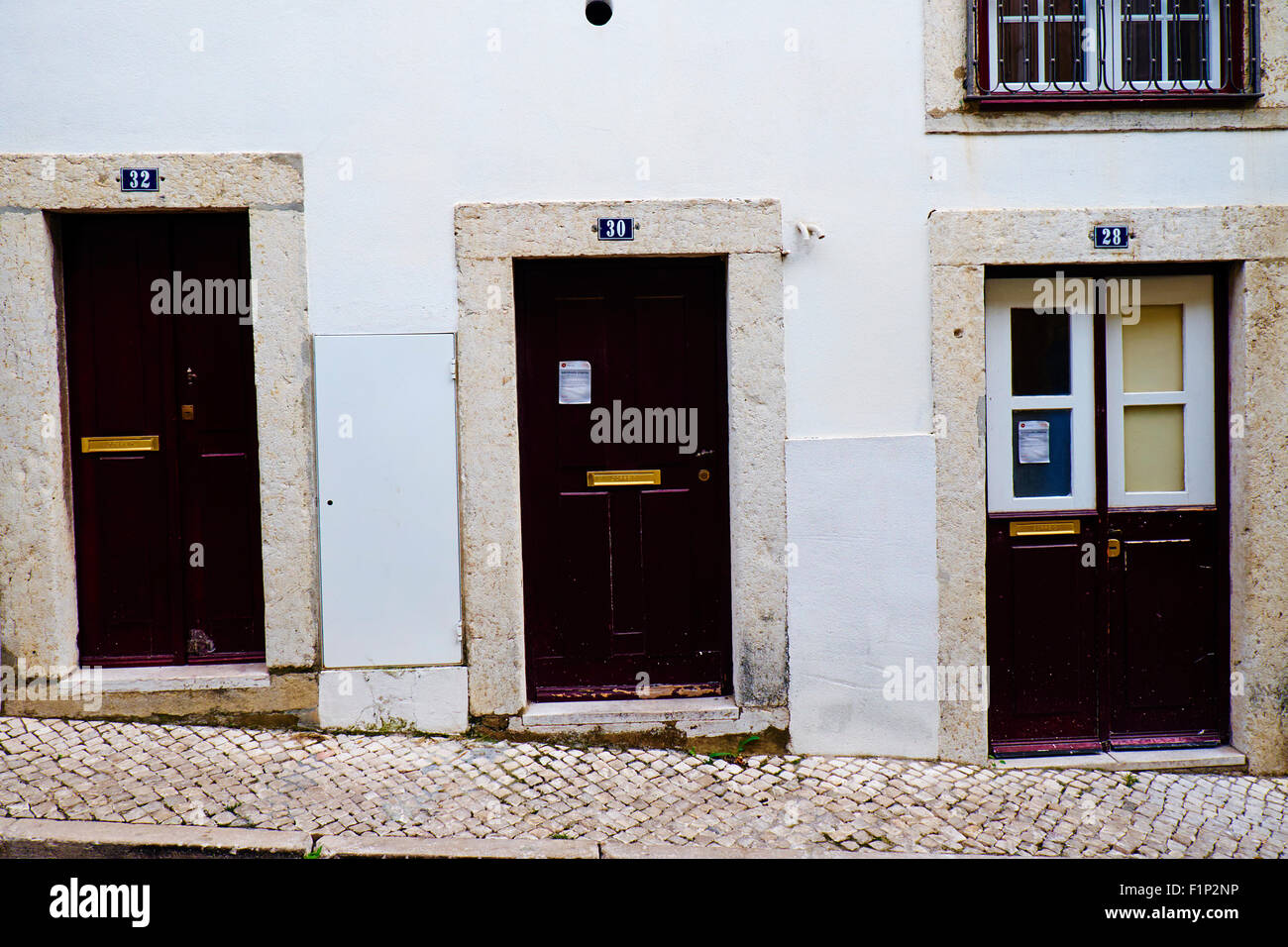 Portugal, Lisbon doors on the Alfama neighbourhood - Stock Image