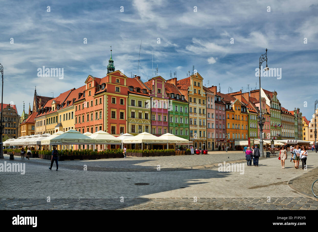 Market Square or Ryneck of Wroclaw, Lower Silesia, Poland, Europe Stock Photo