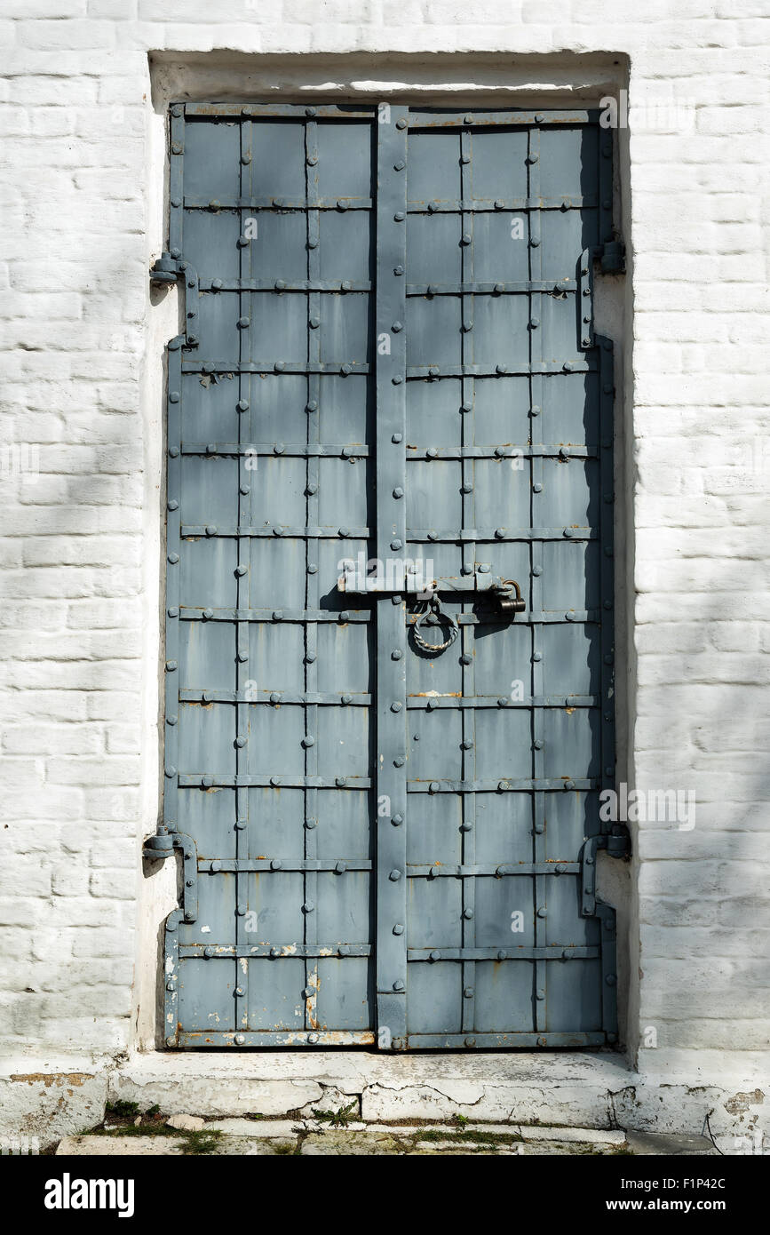 Superieur Old Steel Door To Archangel Michael Cathedral In The ...