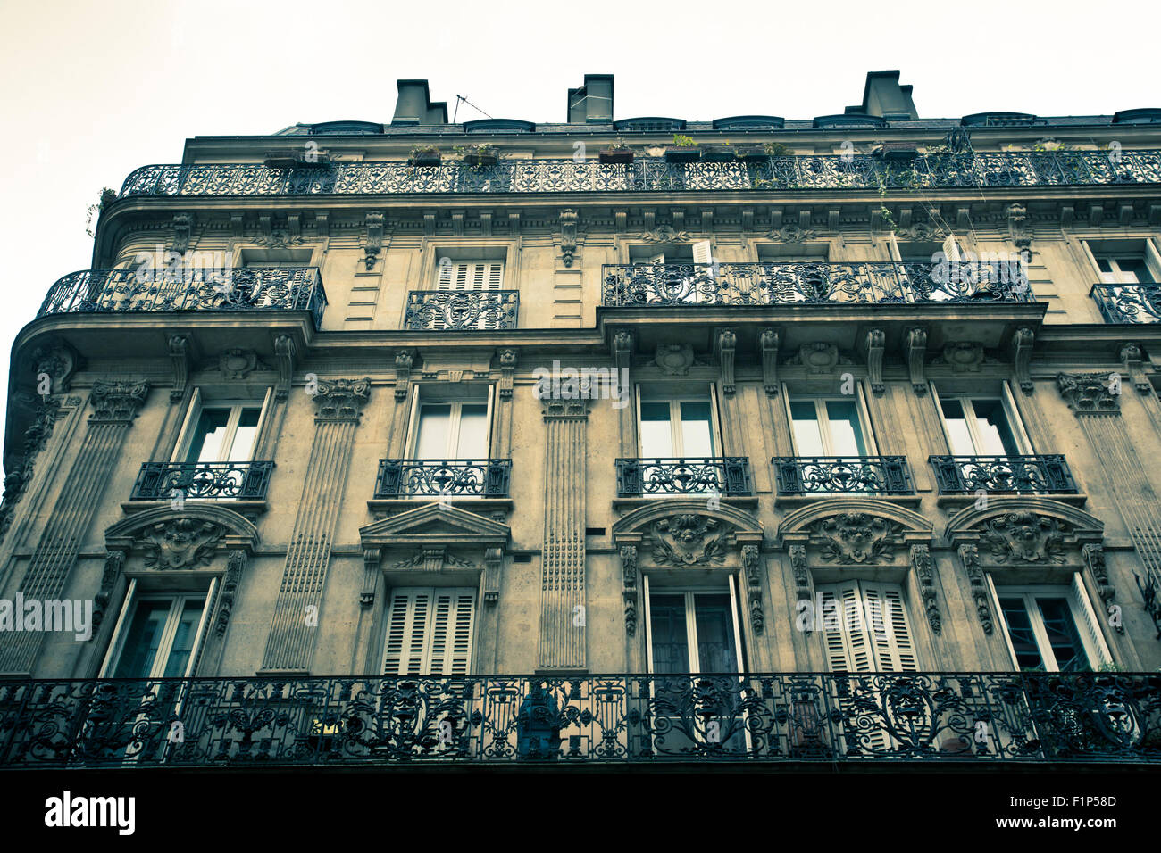 Example Of Typical Apartment Building Exterior In Paris France