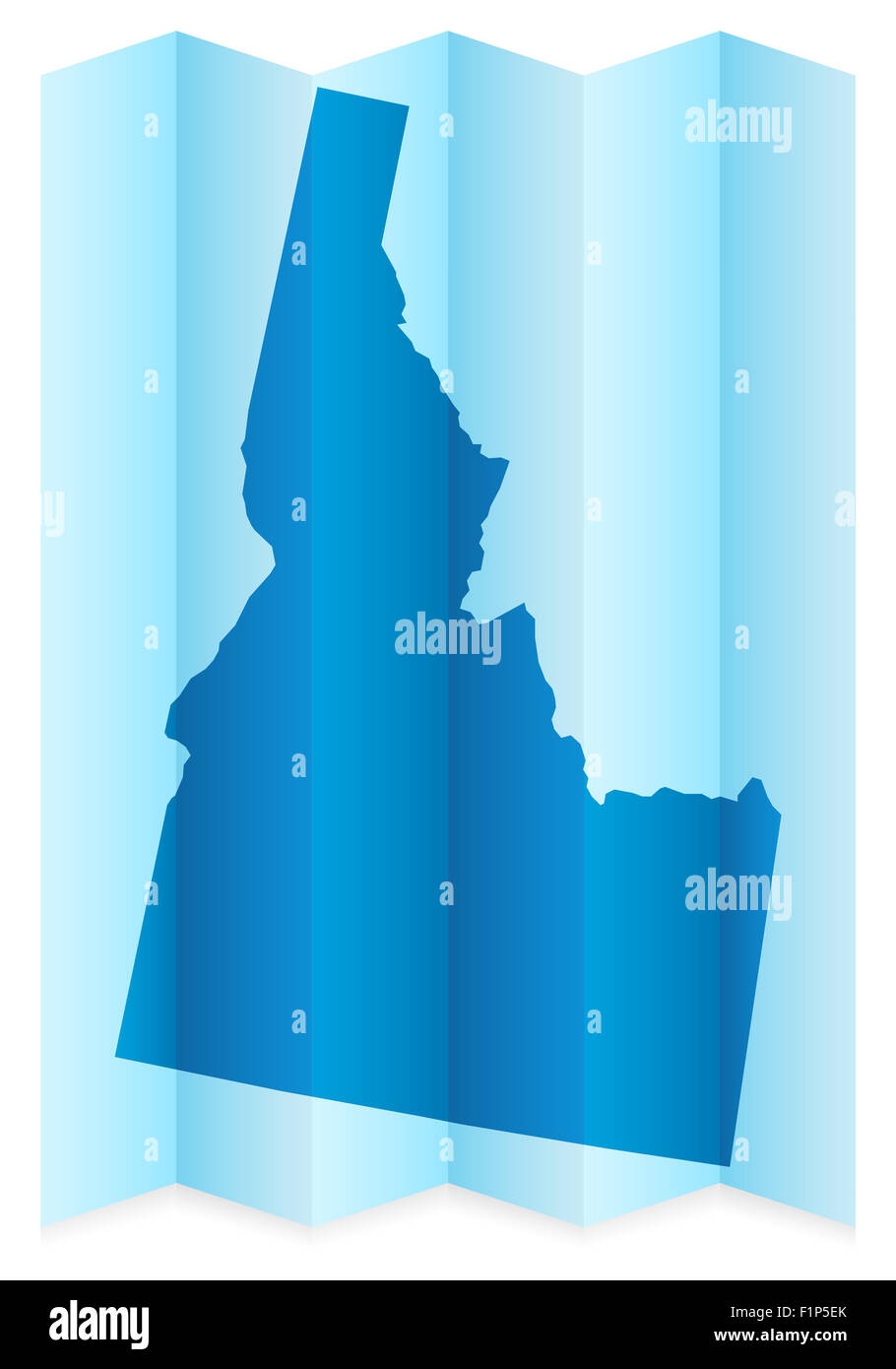 Idaho map on a white background. Vector illustration. - Stock Image