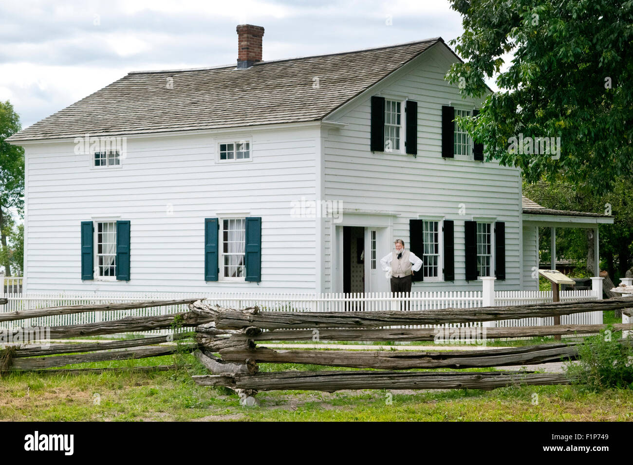 The Lutheran Pastor's home at Upper Canada Village. - Stock Image