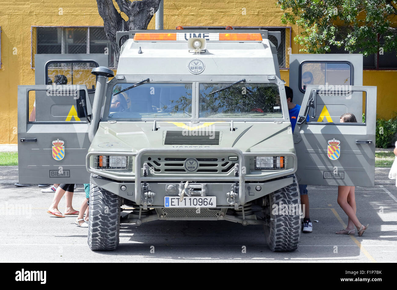 URO VAMTAC, -High Mobility Tactical Vehicle- of spanish army, during a show, in Alcala de Henares. - Stock Image