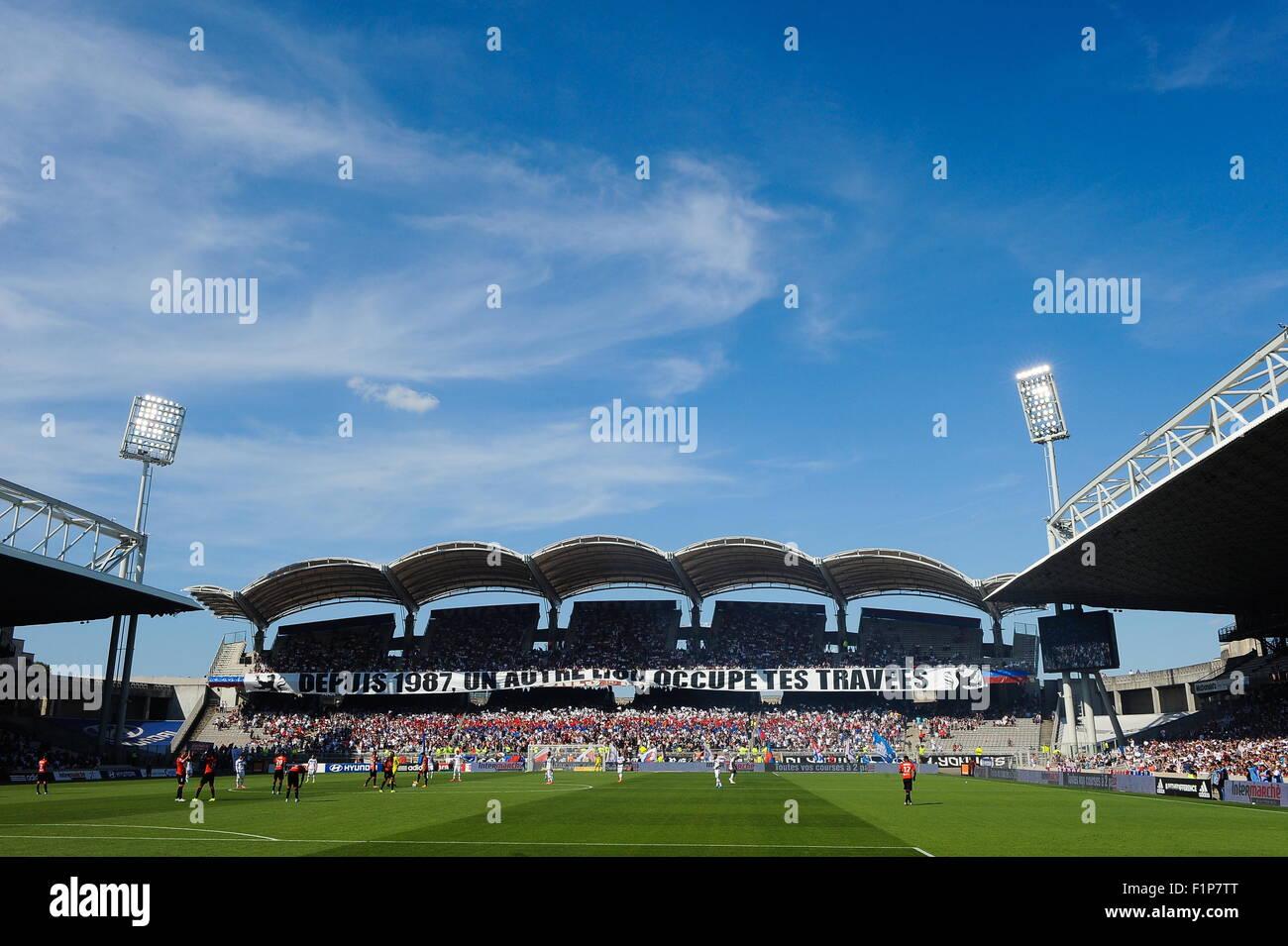 Stade Gerland - 22.08.2015 - Lyon/Rennes - 3eme journee de Ligue 1.Photo : Jean Paul Thomas/Icon Sport Stock Photo