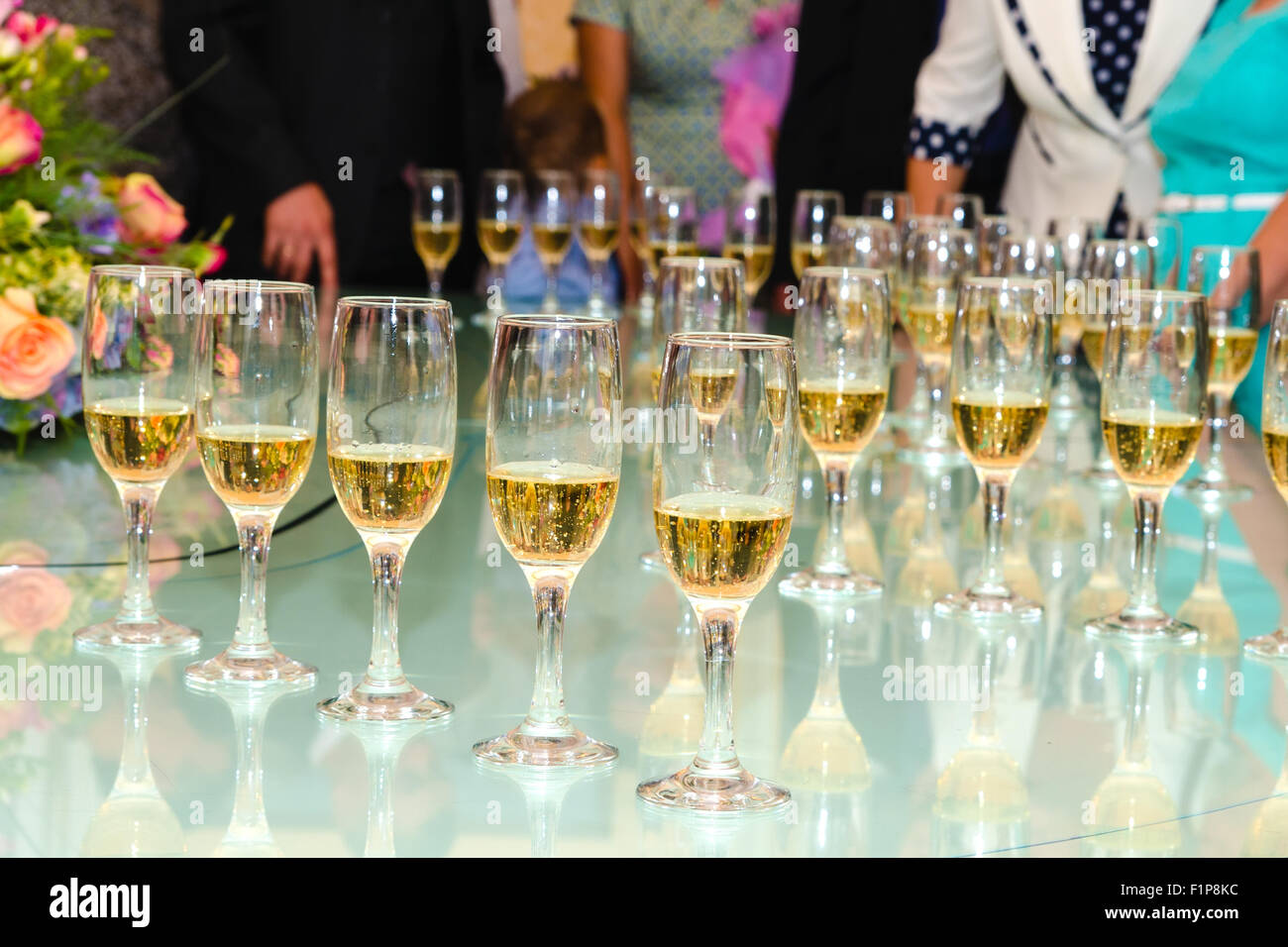 Champagne in glasses Stock Photo