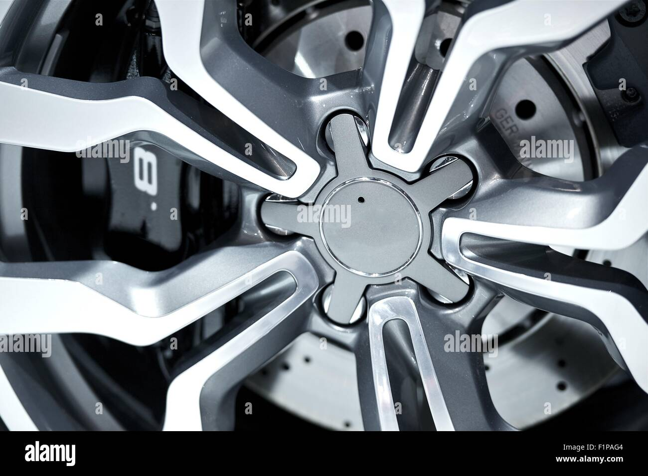 Alloy Wheel Closeup - Alloy Design. Transportation Photo Collection. - Stock Image