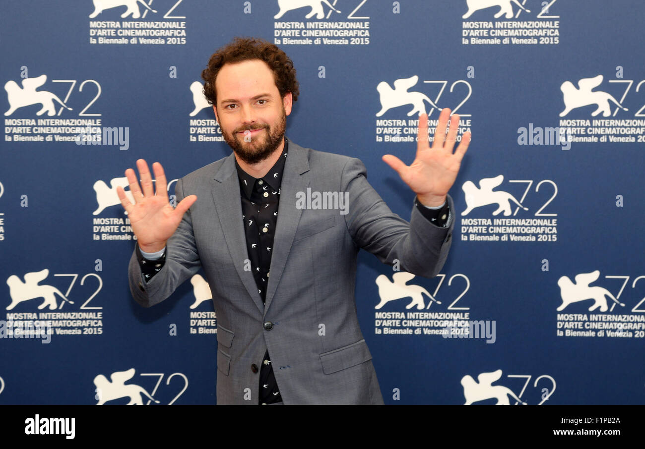 Venice, Italy. 5th September, 2015.  Drake Doremus poses at a photocall for the movie Equals during the 72th annual Stock Photo