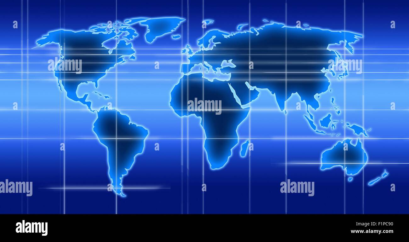 World Time Zones Map Stock Photos World Time Zones Map Stock