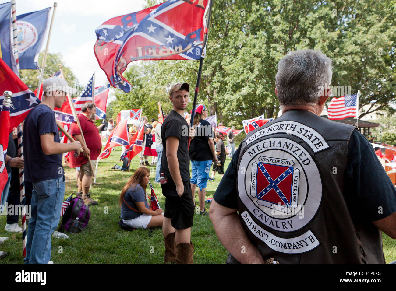 Washington, DC, USA. 5th September, 2015.The Sons of Confederate Veterans hold a rally for the Confederate flag Stock Photo