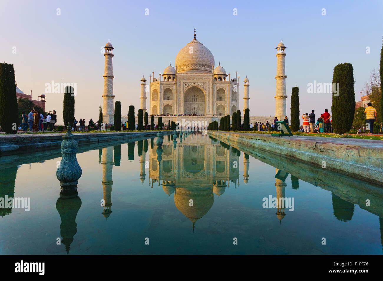Taj Mahal is the world heritage monument. - Stock Image