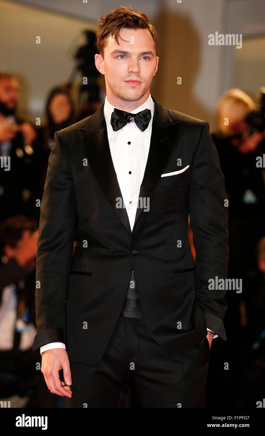 "Venice, Italy. 5th Sep, 2015. Actor Nicholas Hoult attends the premiere of the film ""Equals"" during the 72nd Venice Stock Photo"
