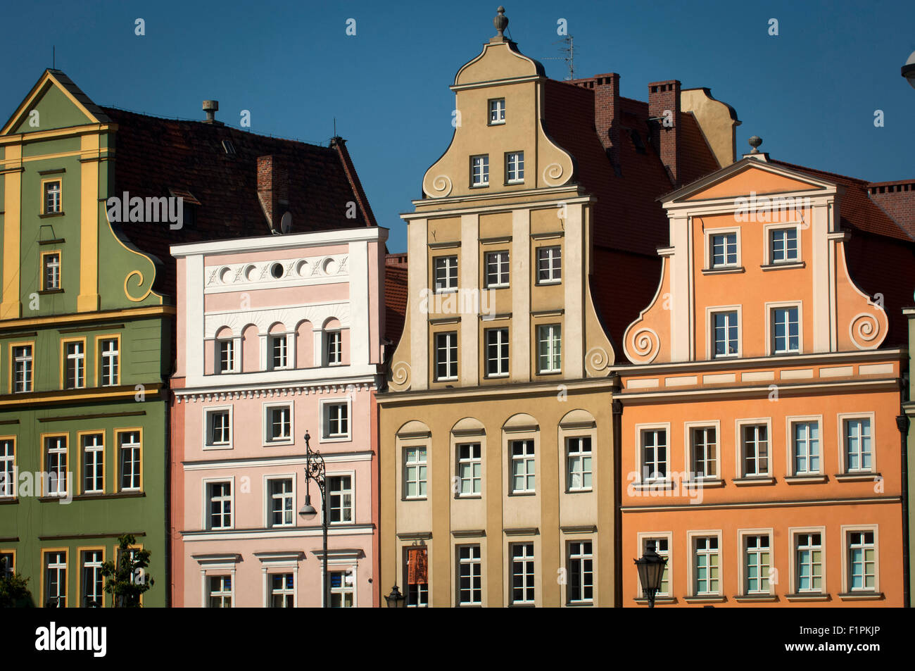 Houses in the Reynek,Wroclaw,Poland. - Stock Image