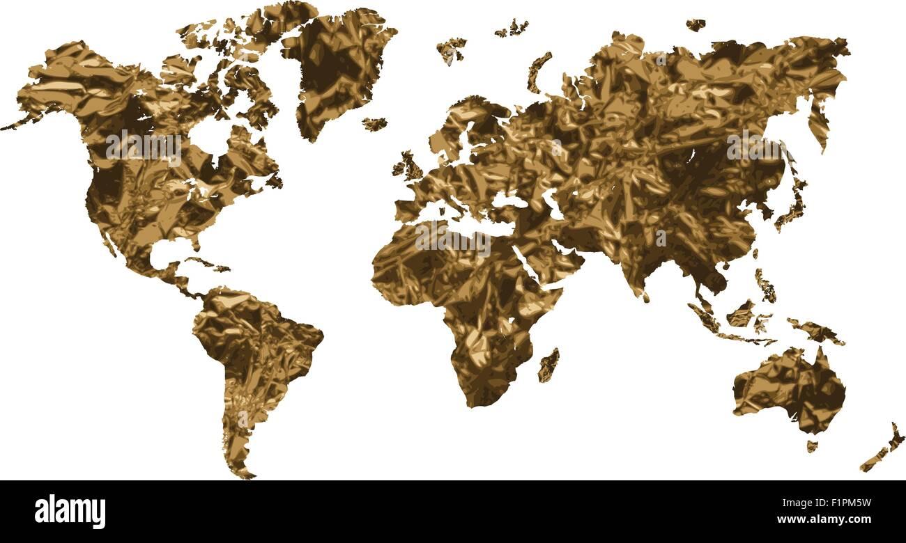 Gold world map isolated on white background vector illustration gold world map isolated on white background vector illustration gumiabroncs Gallery