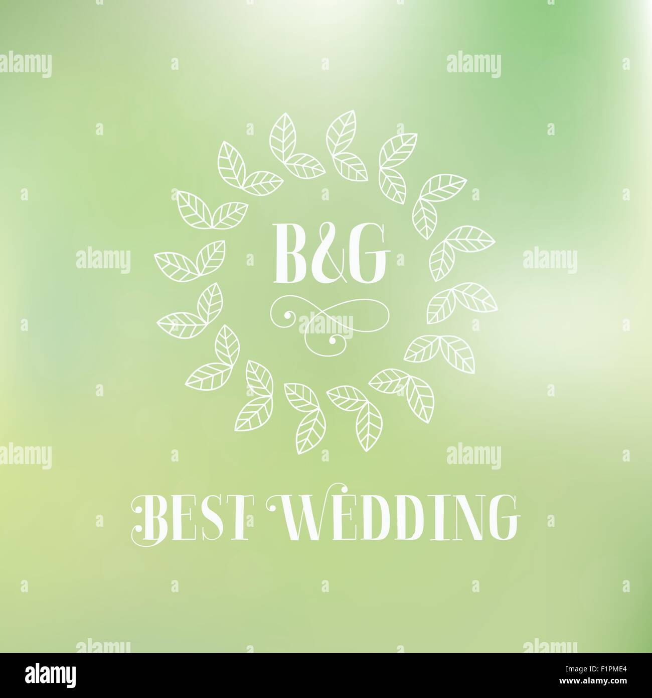 Best wedding label with floral detail Vector illustration - Stock Vector