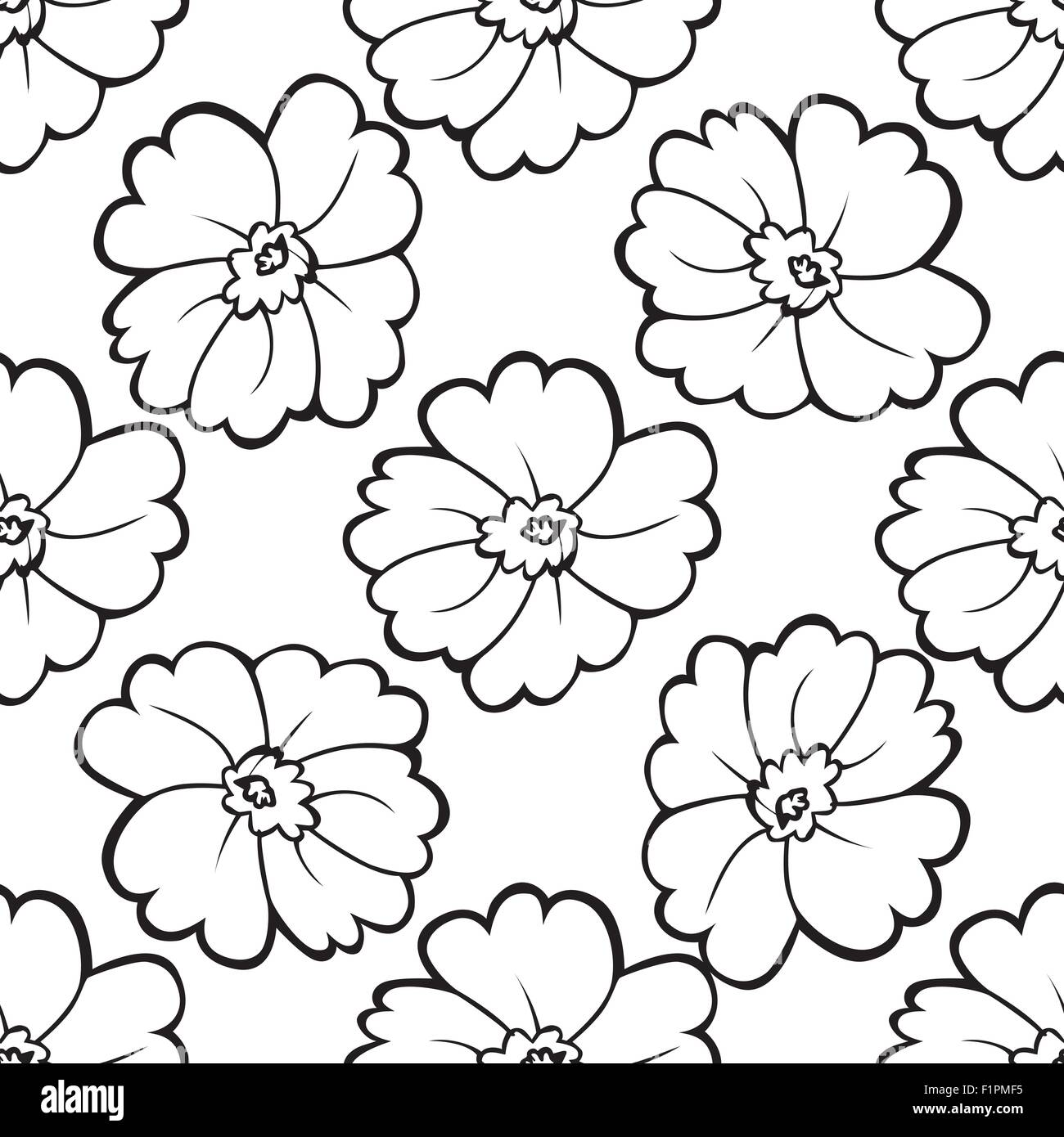 white peonies stock vector images alamy Geometric Pink Background seamless pattern of black and white flowers vector illustration stock vector