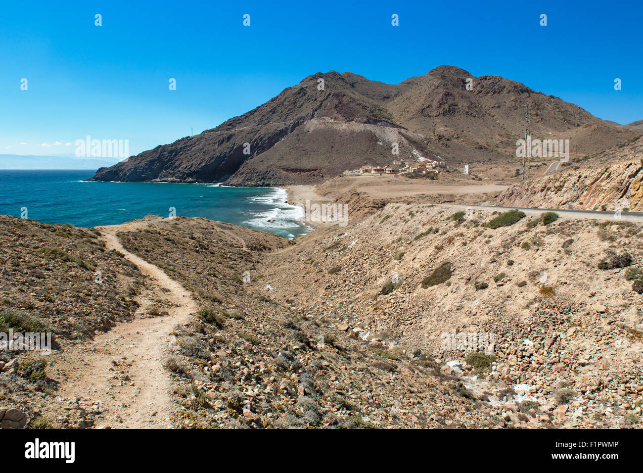 Cove at Cabo del Gata, Almeria, Spain - Stock Image