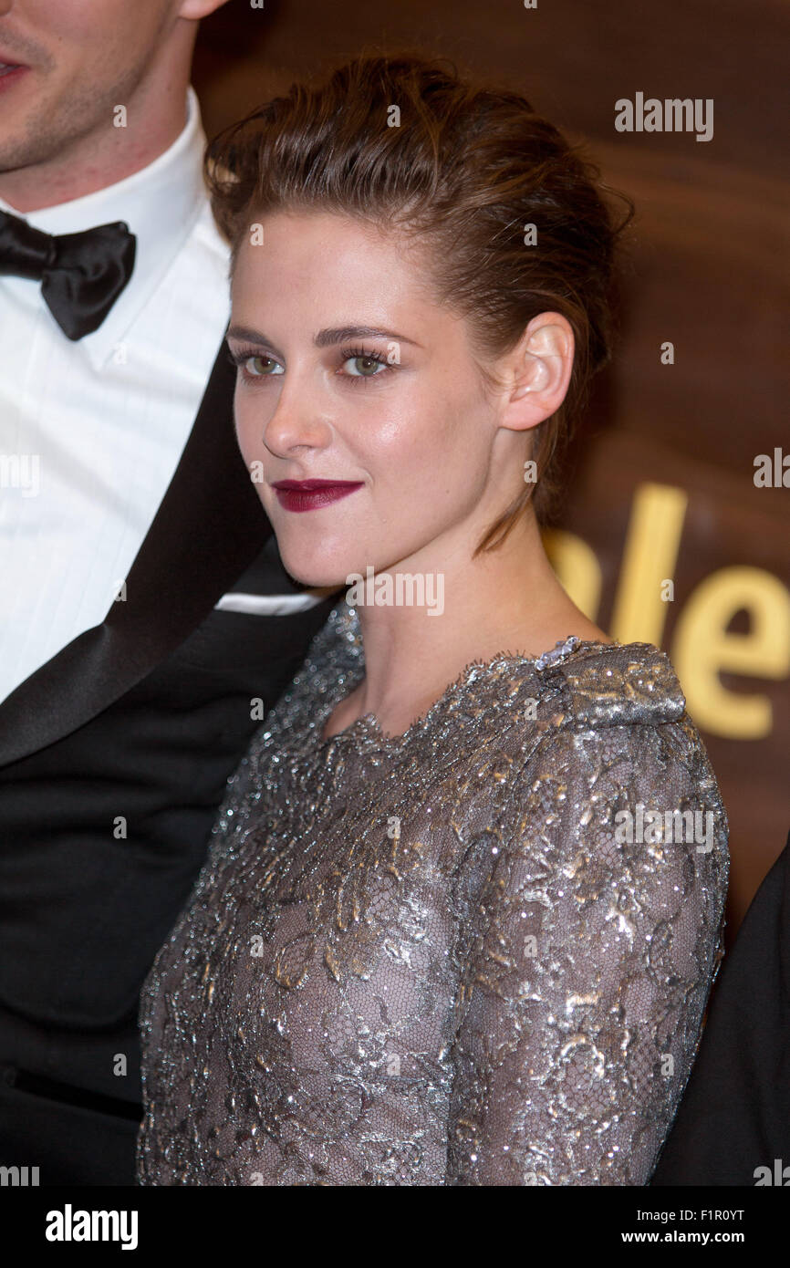 Venice, Italy. 5th September, 2015. Actress Kristen Stewart attends the premiere of Equals during the 72nd Venice Stock Photo