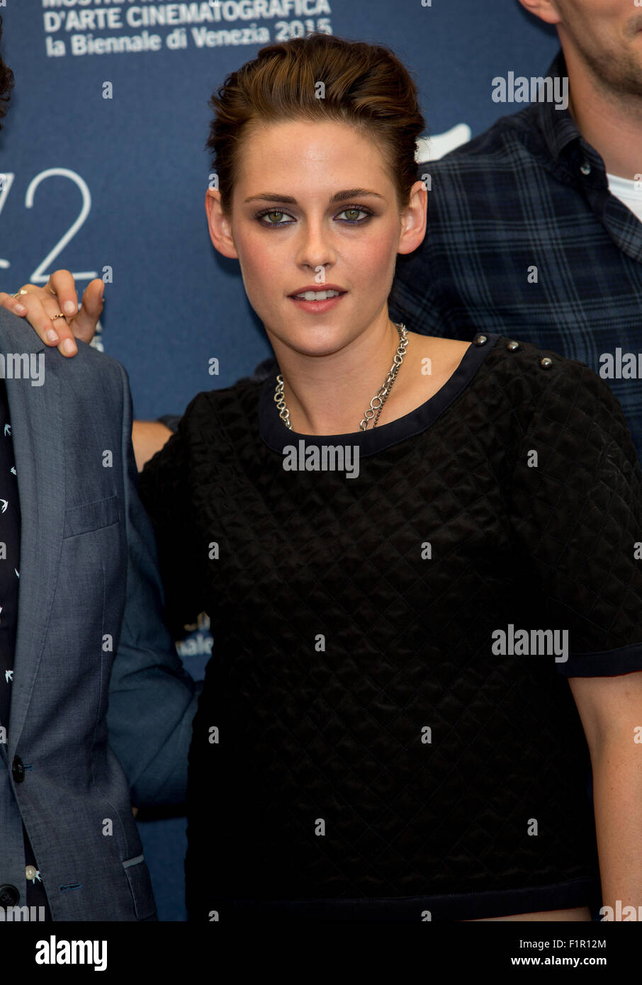 Venice, Italy. 5th September, 2015. Actress Kristen Stewart poses at the photocall of Equals during the 72nd Venice Stock Photo