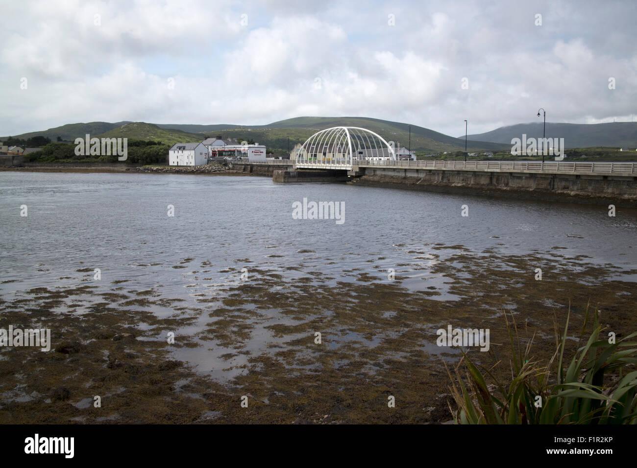 causeway and achill bridge over achill sound county mayo ireland - Stock Image