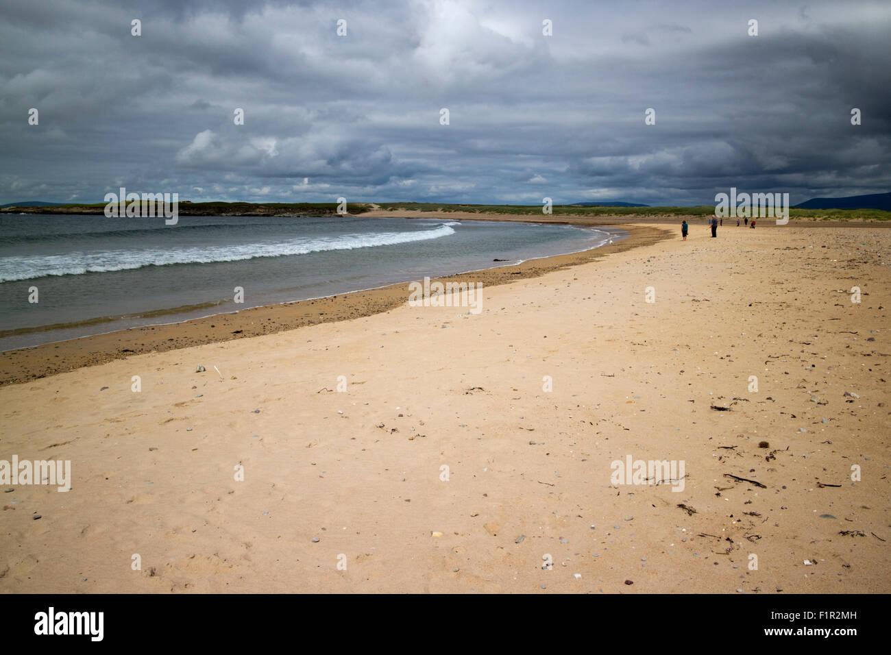 golden strand Barnynagappul Strand Achill Island County Mayo Ireland - Stock Image