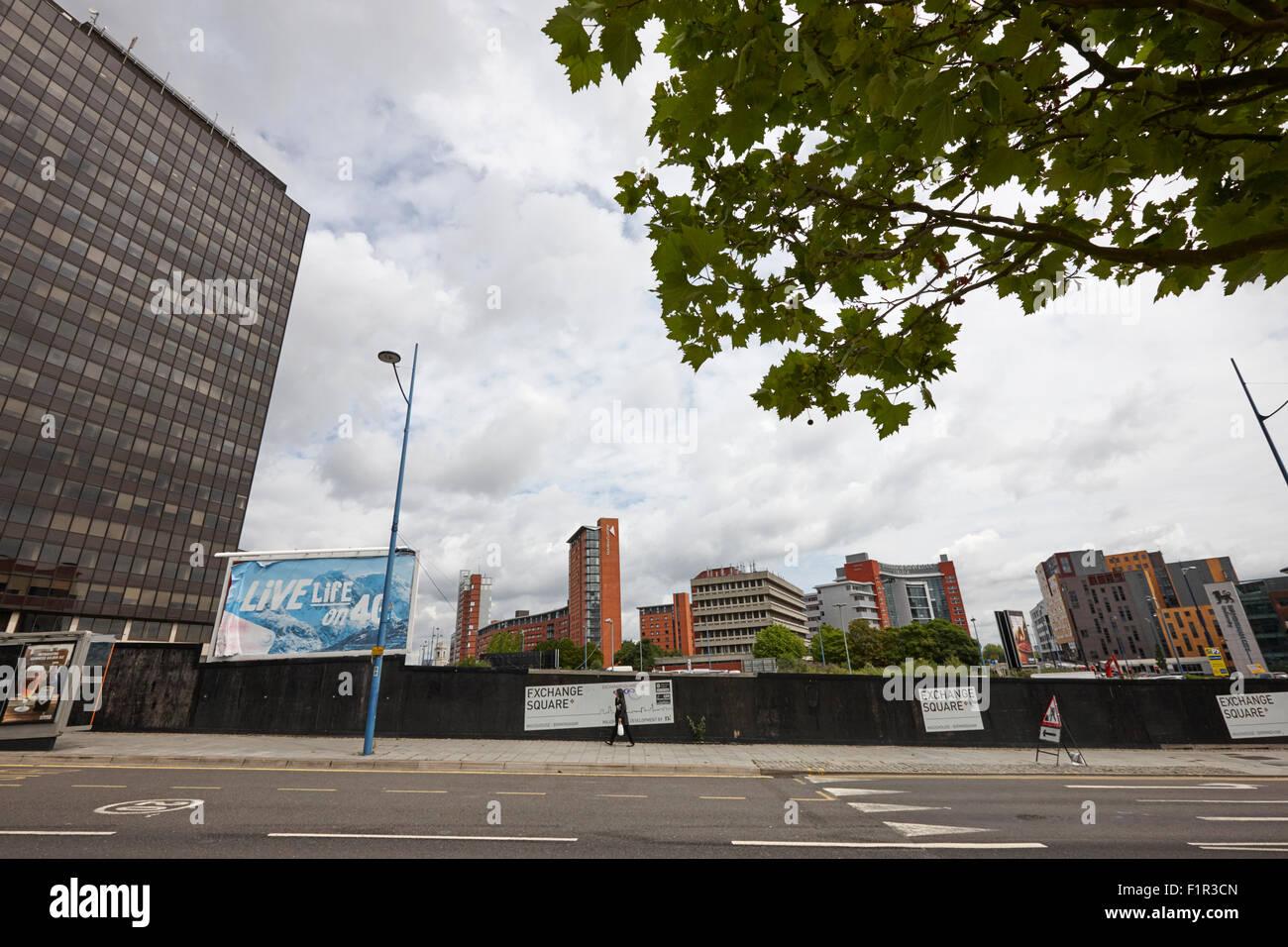 exchange square masshouse redevelopment eastside Birmingham UK - Stock Image