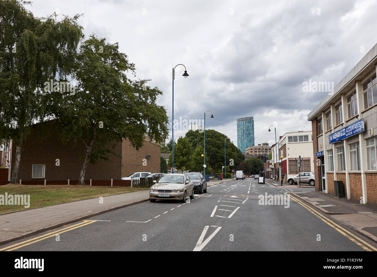 gooch street approach to Birmingham city centre UK - Stock Image