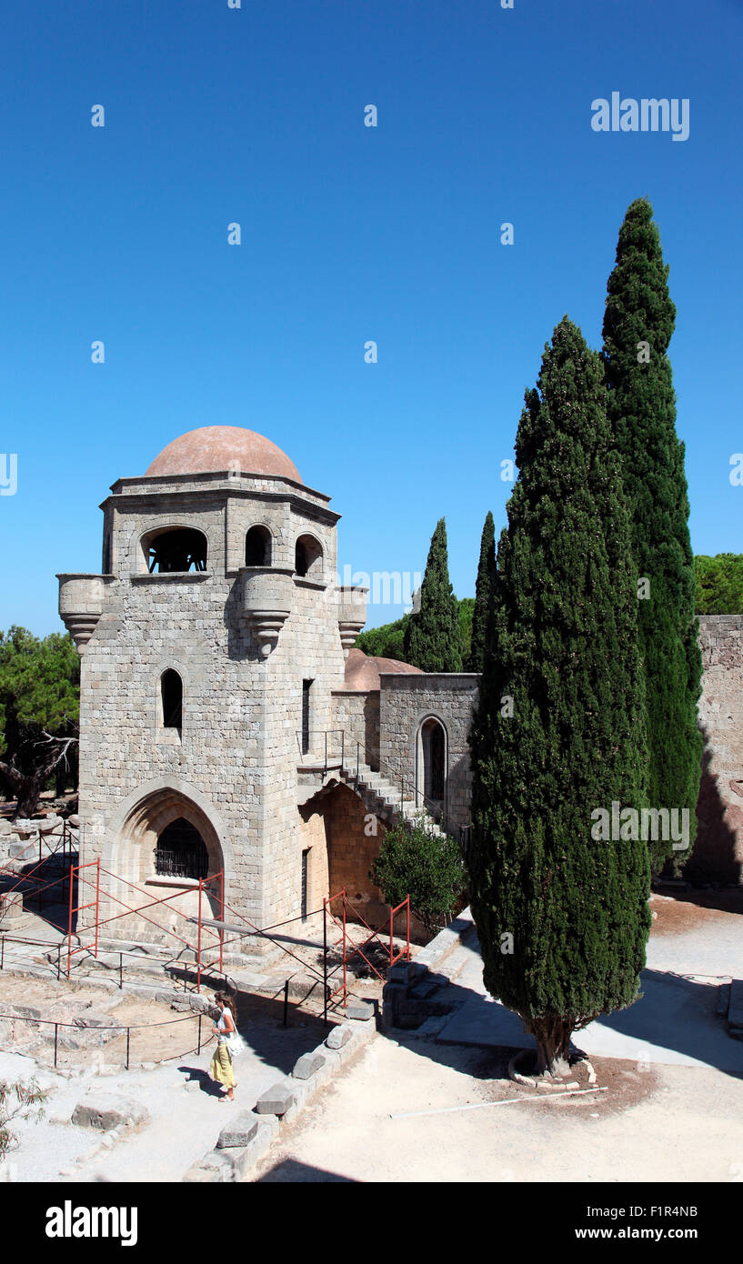 Church of Our Lady, Filerimos, Rhodes - Stock Image