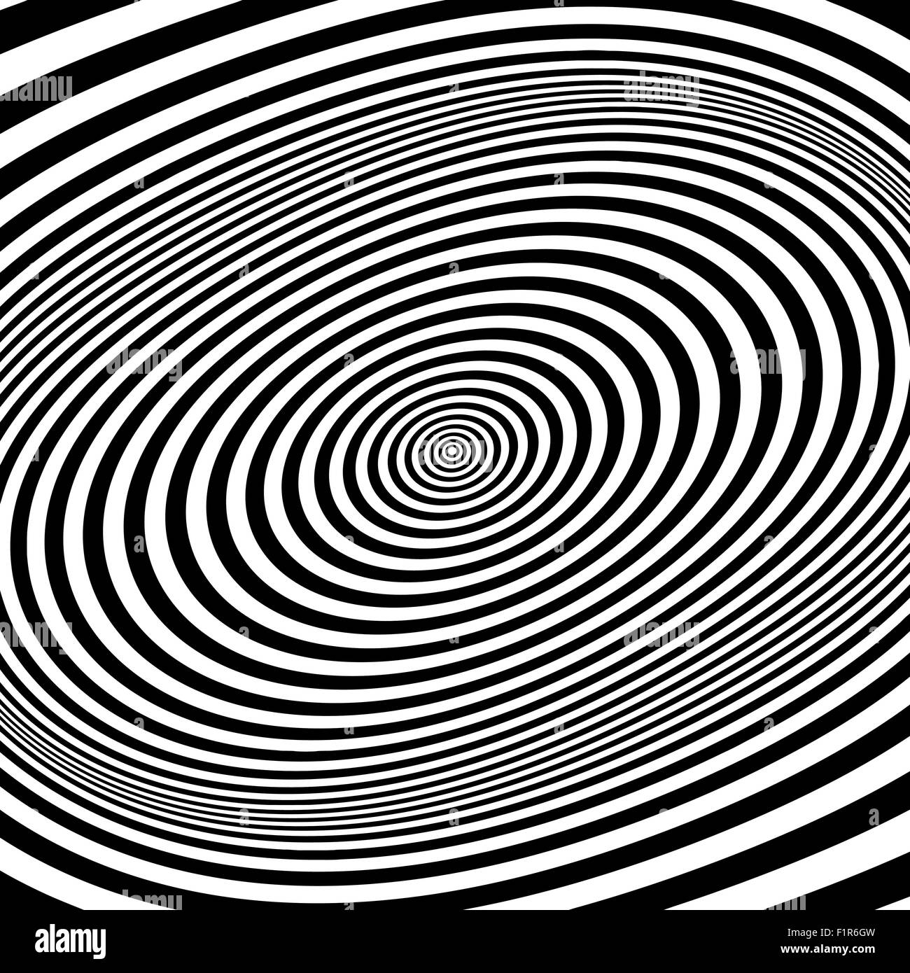 Black and white abstract striped background. Optical Art. Vector illustration. - Stock Image