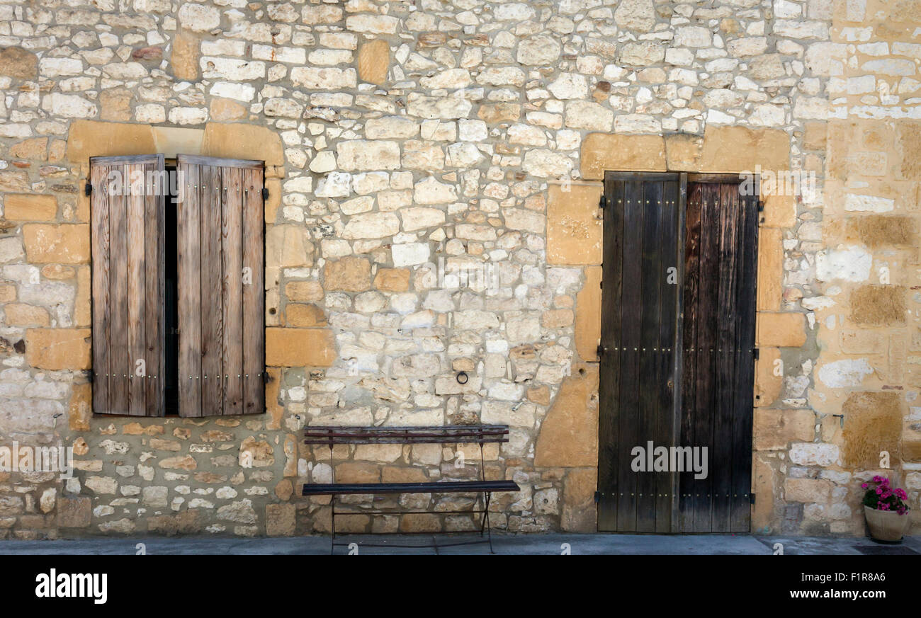 Shutters and door, Tarn-et-Garonne, Midi-Pyrenees, southern France, 2015 - Stock Image
