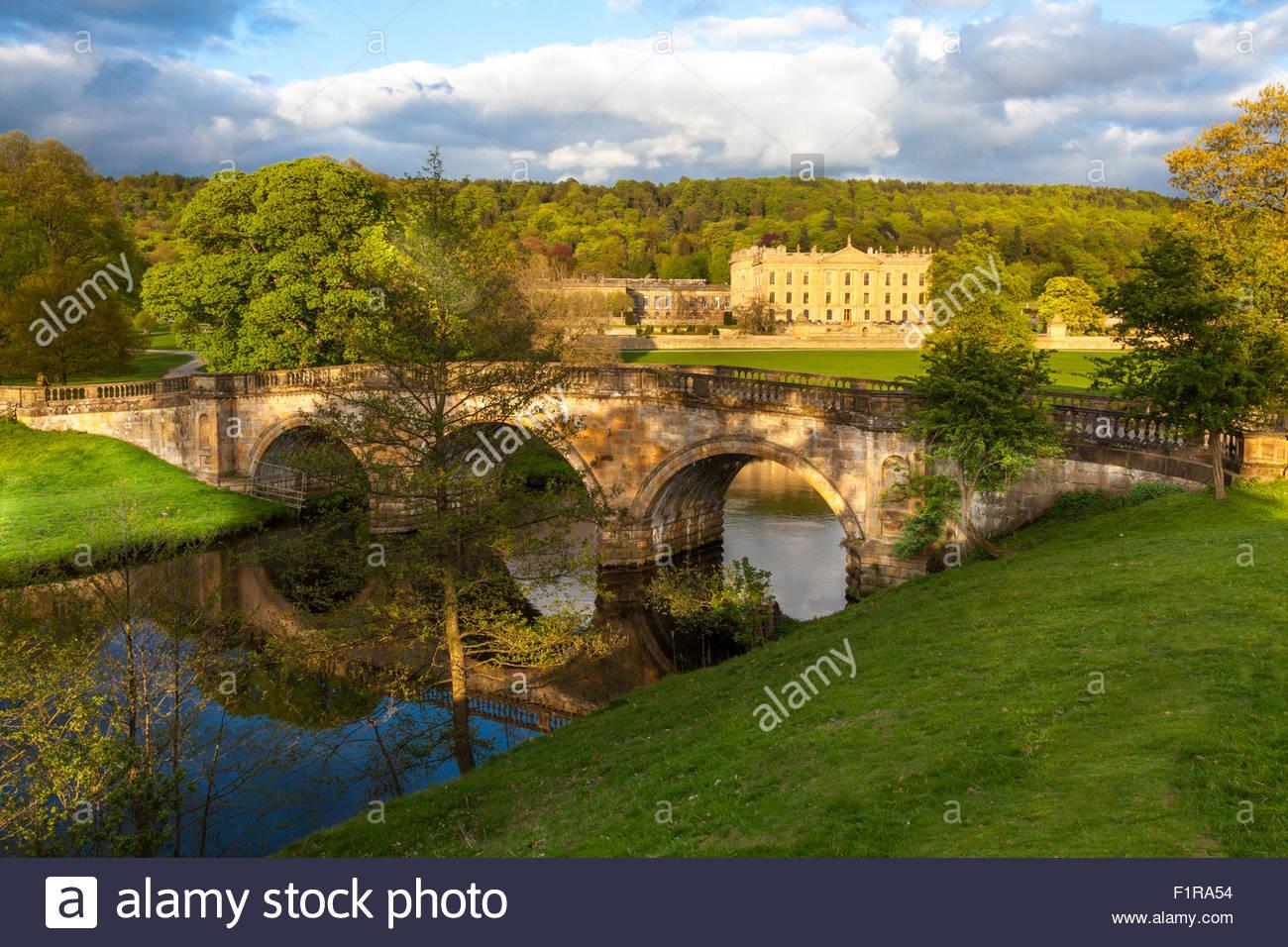 Chatsworth House & Estate, Derbyshire, England, U.K. - Stock Image