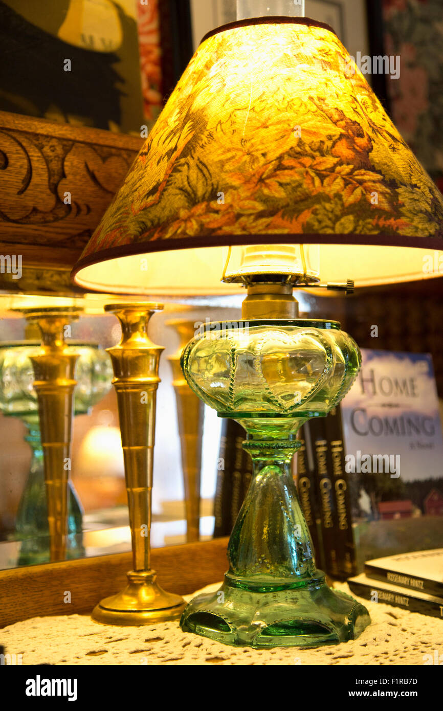 Home Decor - Antique Lamp - Stock Image