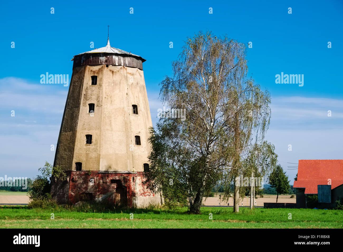 Windmill in Rosenthal near Dahme/Mark, Brandenburg, Germany - Stock Image