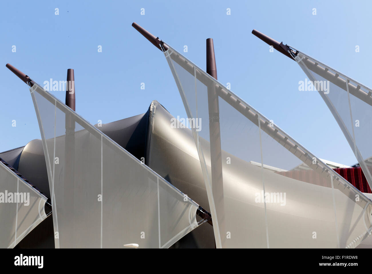 Milan, Italy, 12 August 2015: Detail of the Kuwait pavilion at the exhibition Expo 2015 Italy. - Stock Image