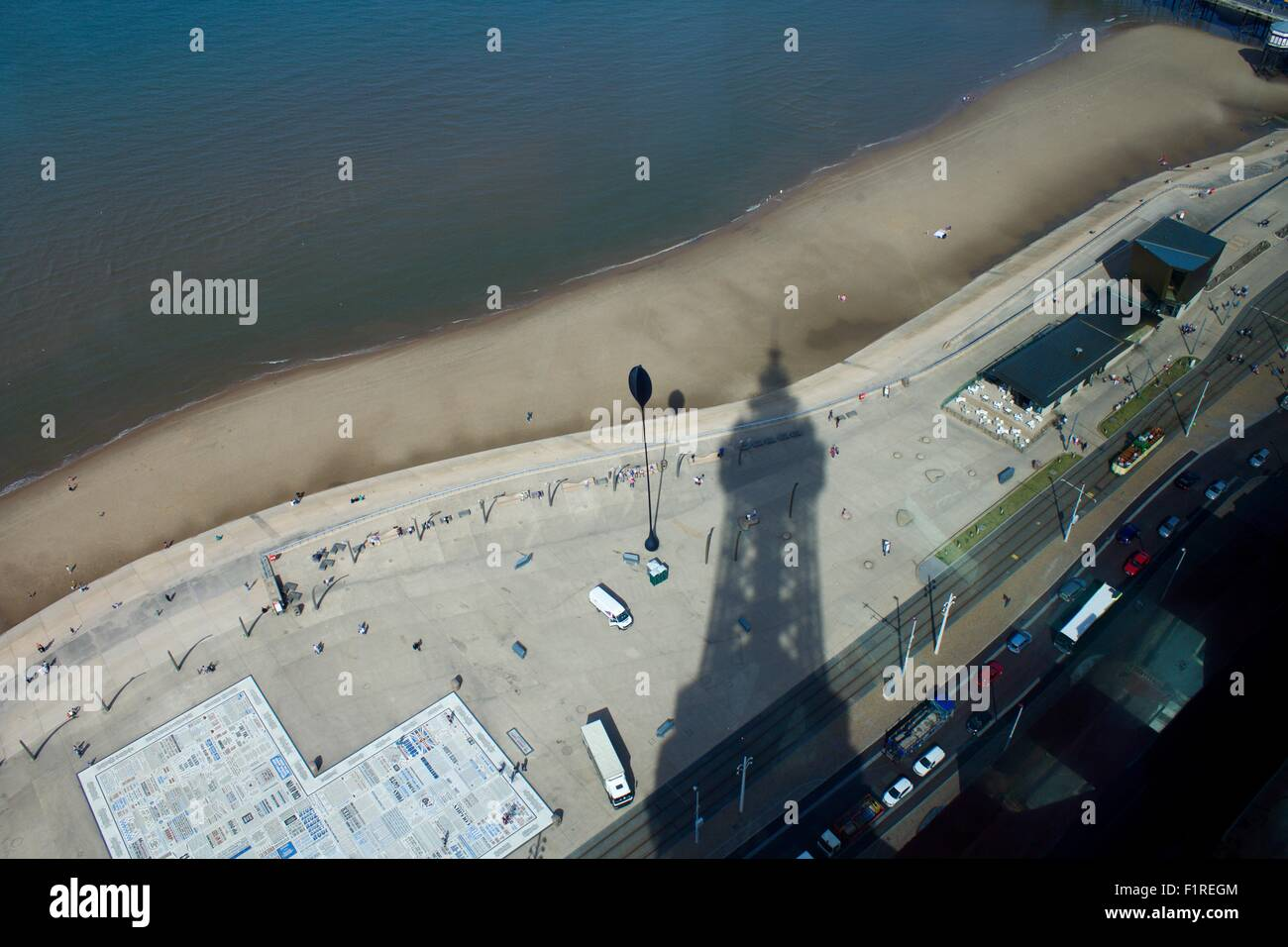 View from Blackpool Tower - Stock Image