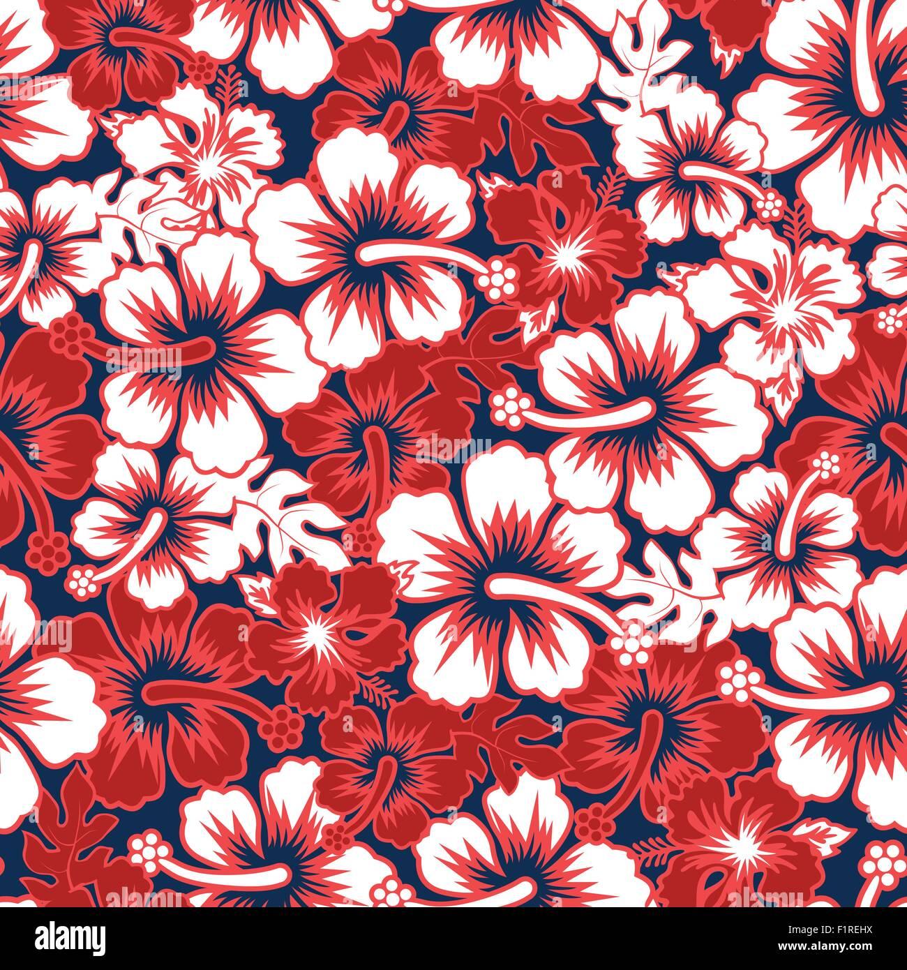 0475292d9d33 A Surf floral hibiscus seamless pattern Stock Vector Art ...