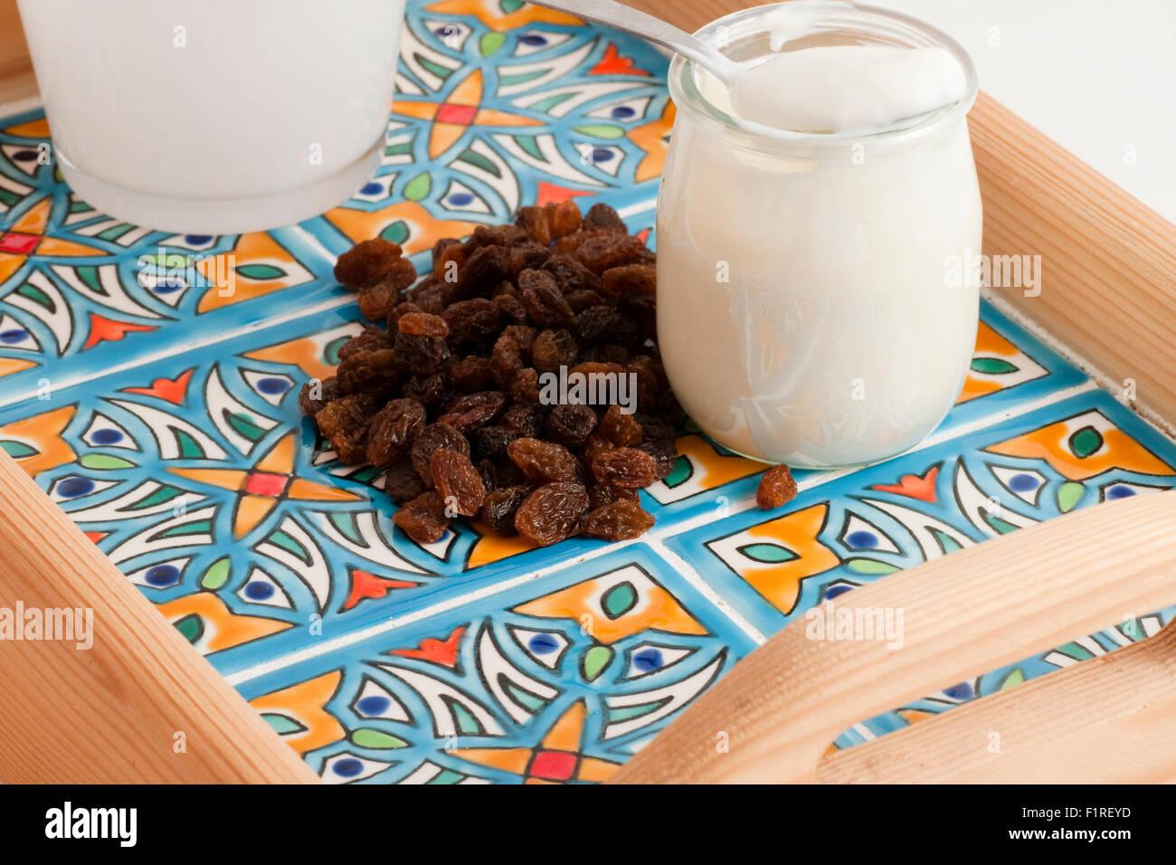 white yoghurt - Stock Image