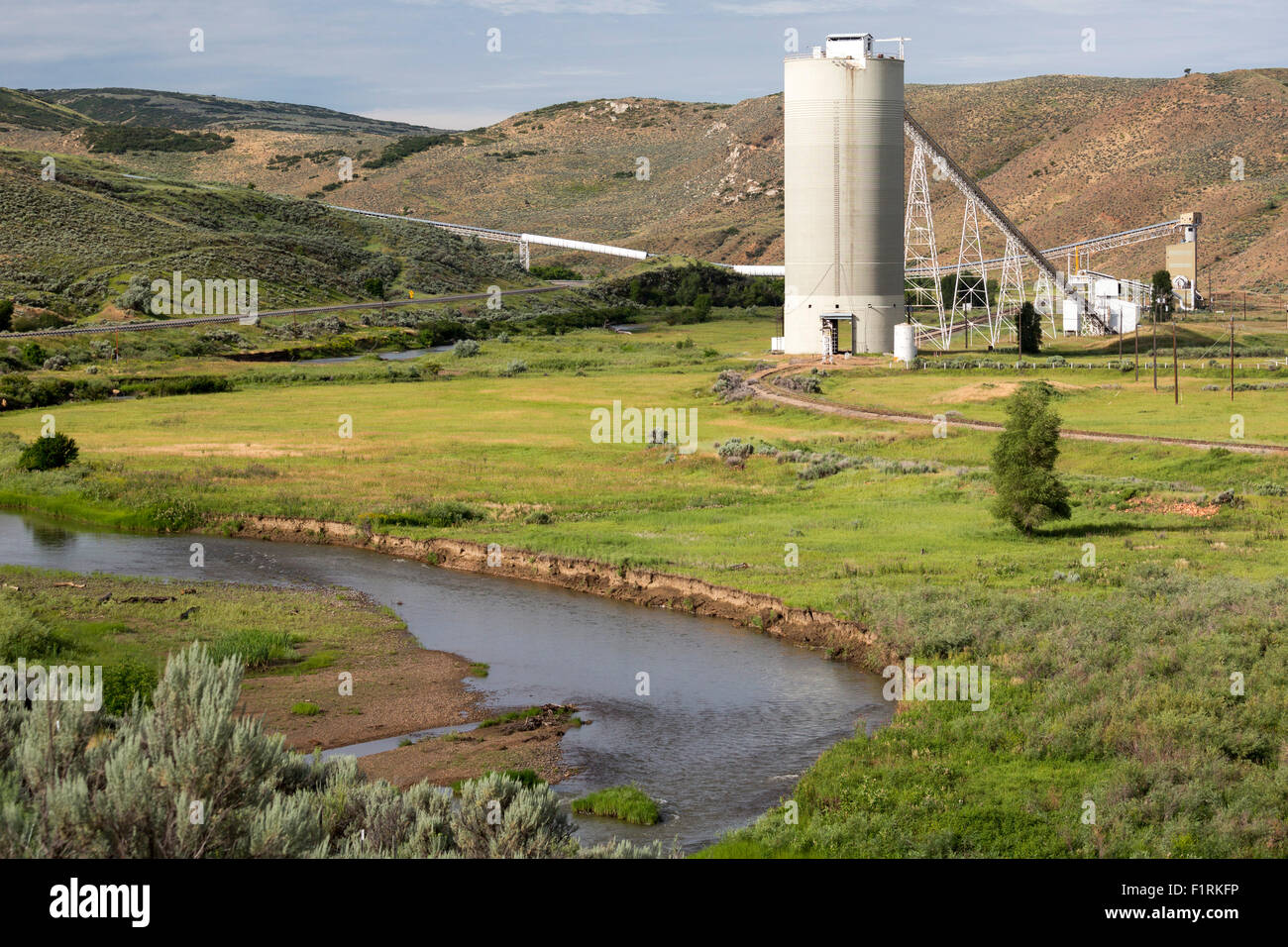 Craig, Colorado - A facility for loading coal from a nearby mine onto rail cars. Stock Photo