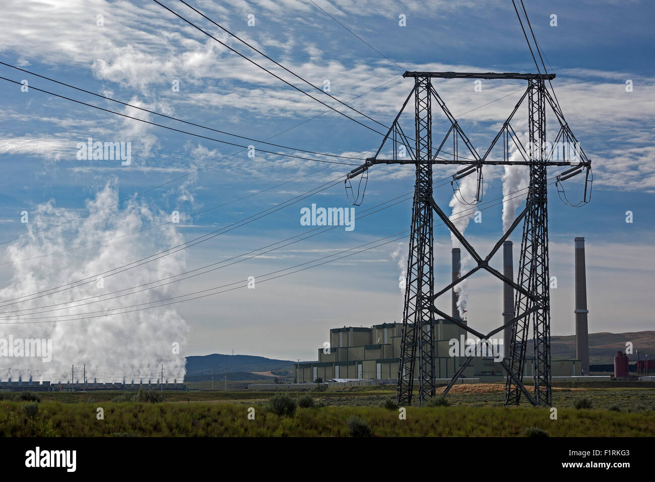 Station Coal Fired Electric Stock Photos & Station Coal
