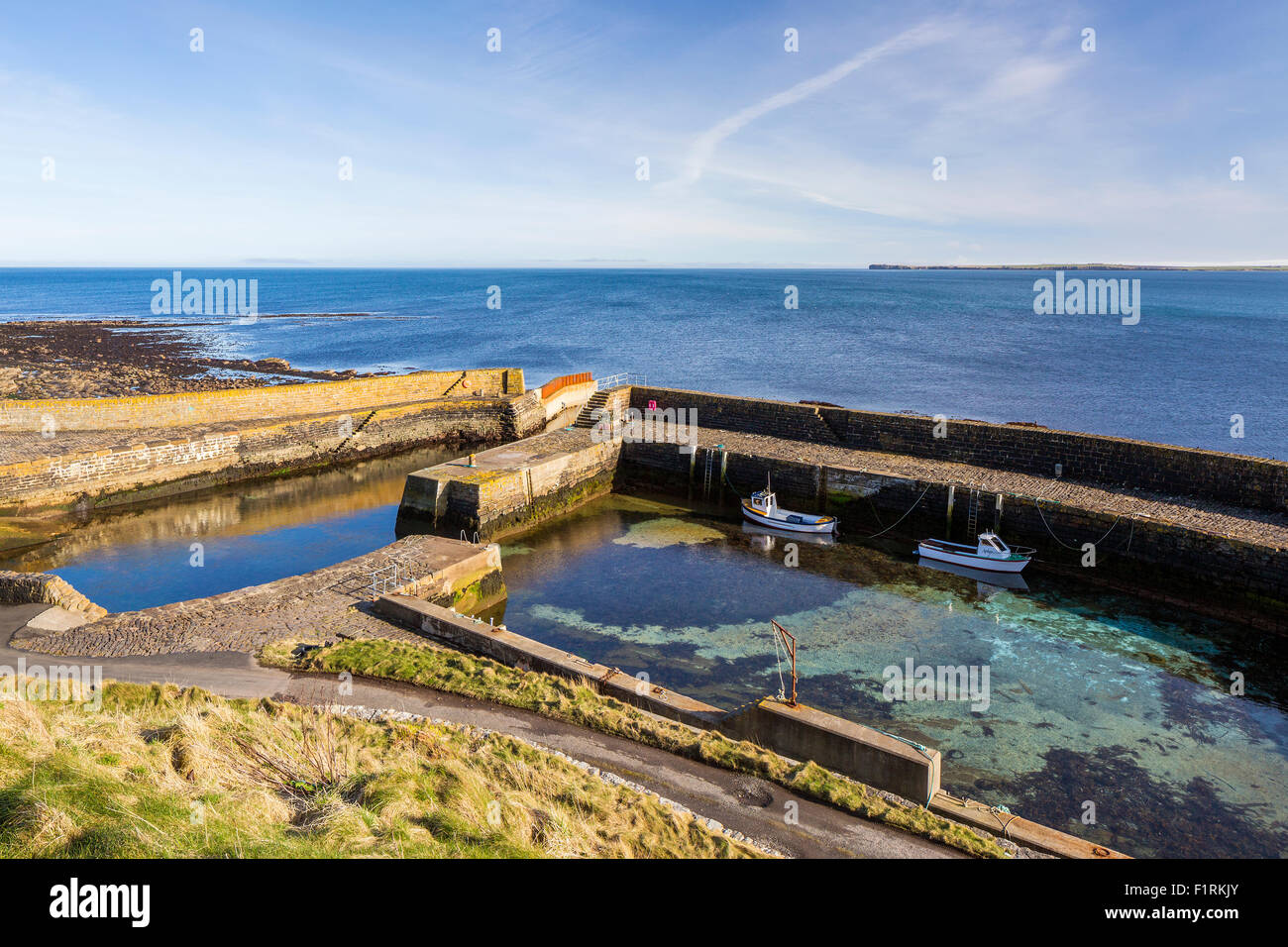 Keiss, Caithness, Highland, Scotland, United Kingdom, Europe. - Stock Image