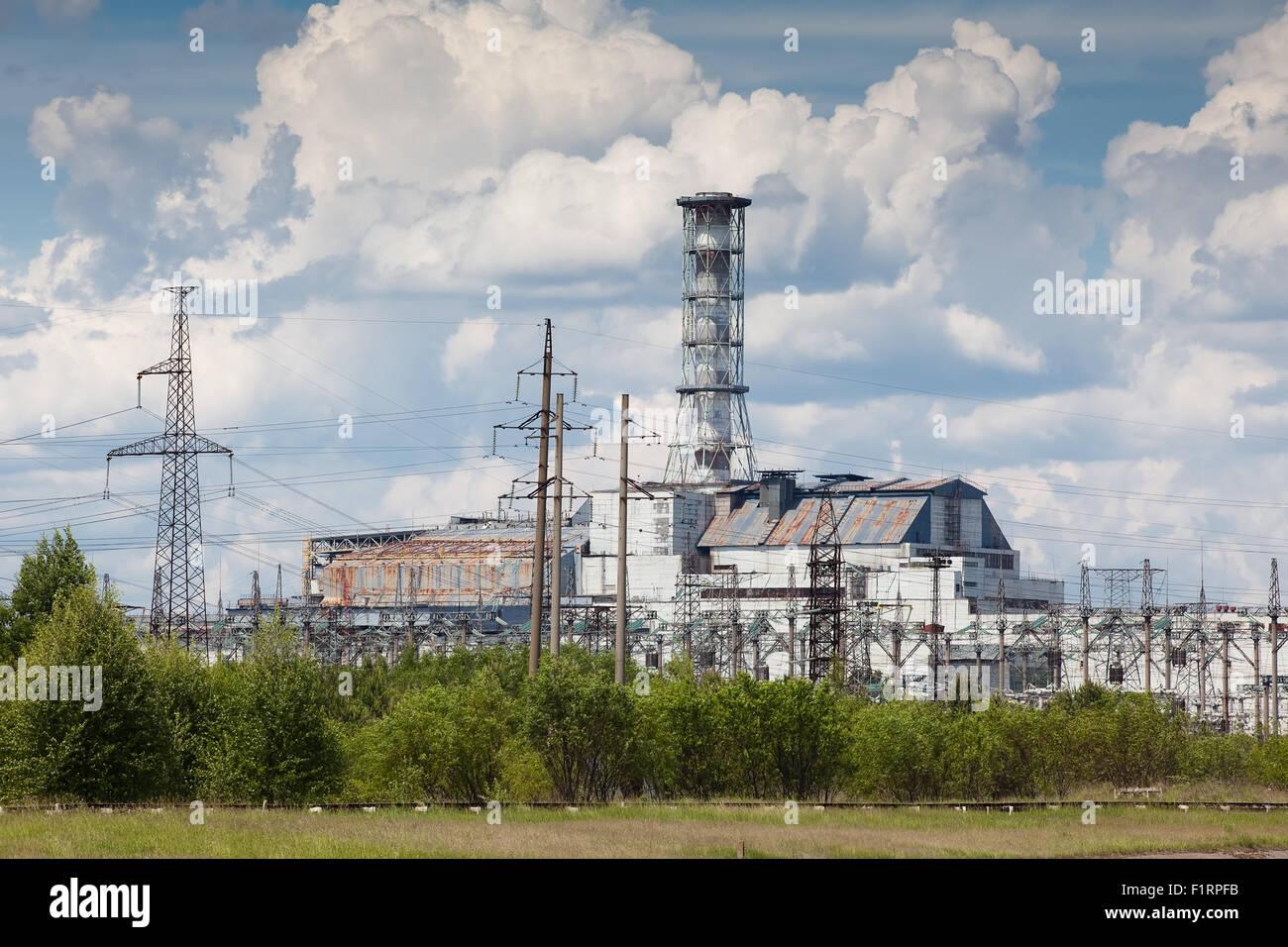 Chernobyl power plant Stock Photo