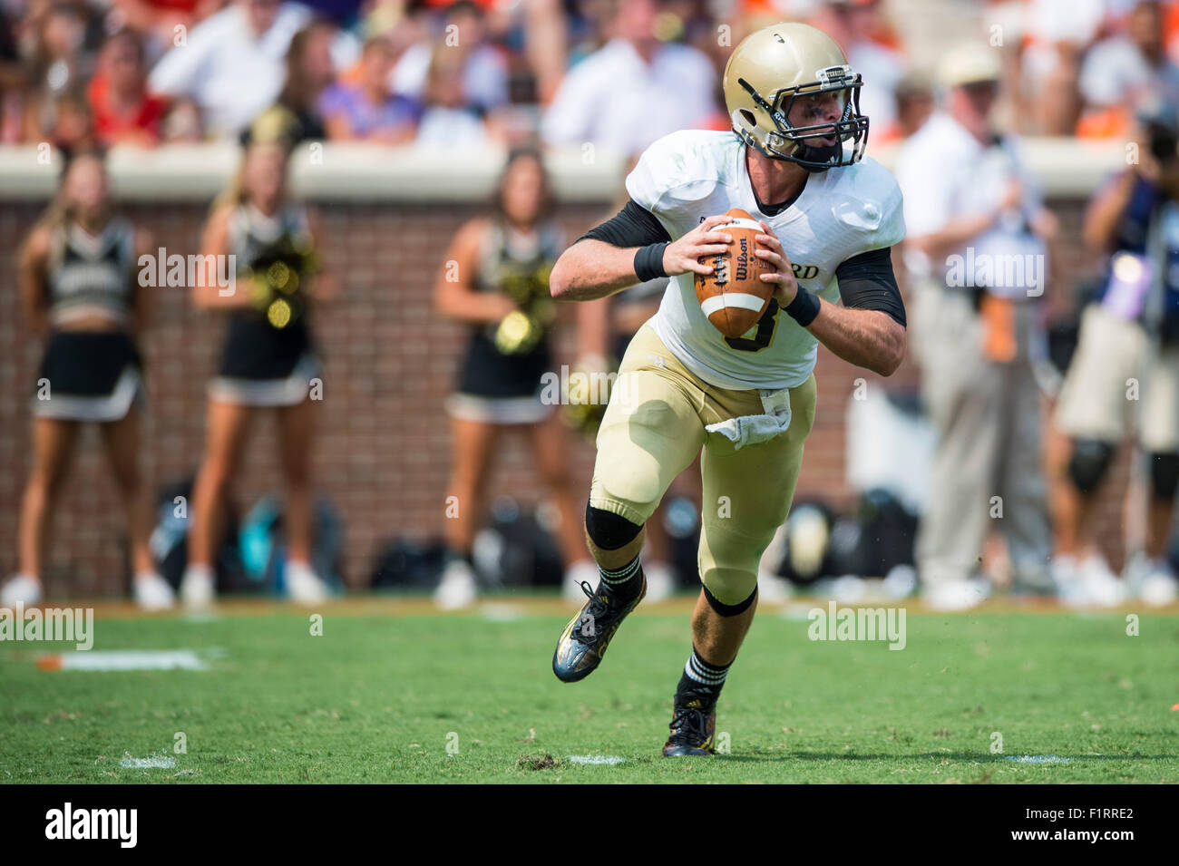 Wofford Quarterback Evan Jacks 3 During The Ncaa College