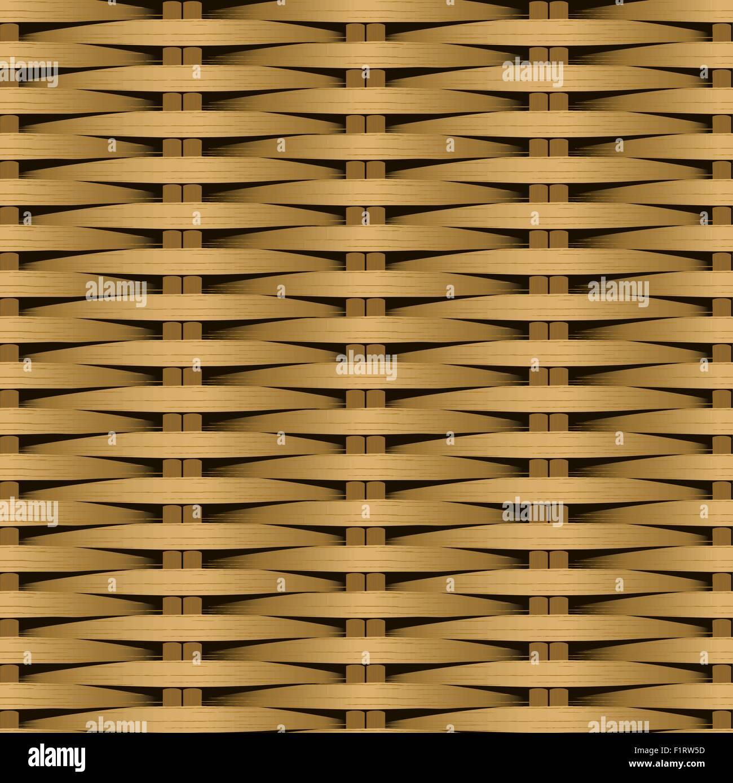 Cane flat woven fiber seamless pattern . - Stock Vector