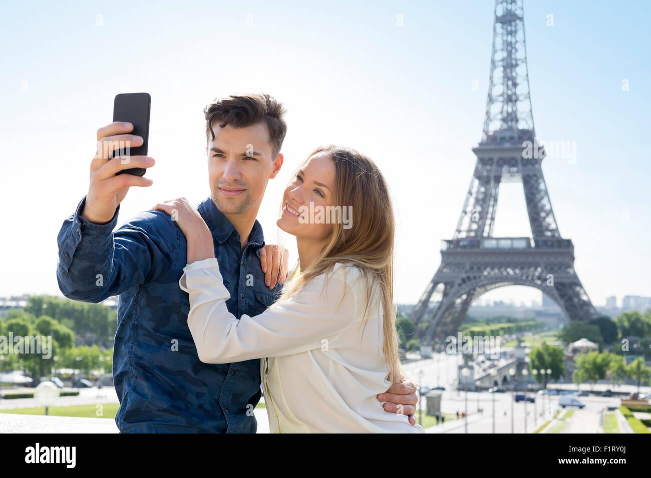 Couple visiting Paris Stock Photo